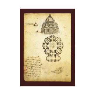 Architectural Sketch by Leonardo da Vinci Canvas Print