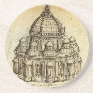 Architectural Sketch by Leonardo da Vinci Coaster