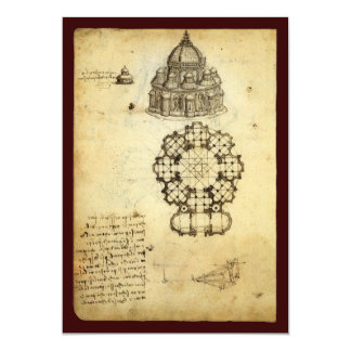 Architectural Sketch by Leonardo da Vinci Personalized Invite