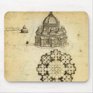 Architectural Sketch by Leonardo da Vinci Mouse Pad