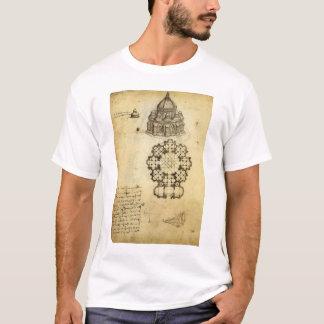 Architectural Sketch by Leonardo da Vinci T-Shirt