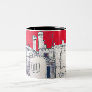 architectural sketch Two-Tone coffee mug