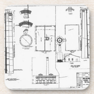 Architectural U.S. Naval Air Station Beverage Coaster