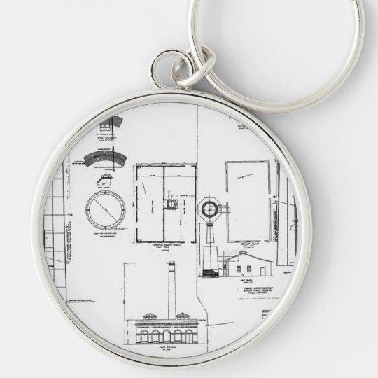 Architectural: U.S. Naval Air Station Keychain