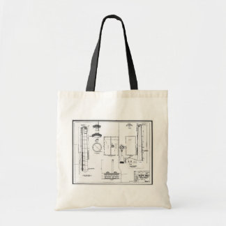 Architectural U.S. Naval Air Station Tote Canvas Bag