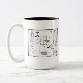 Architectural: U.S. Naval Air Station Two-Tone Coffee Mug