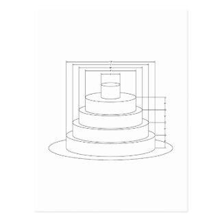 Architectural Wedding Cake Postcard