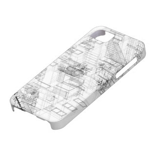 Architectural wire frame Iphone case iPhone 5 Cover