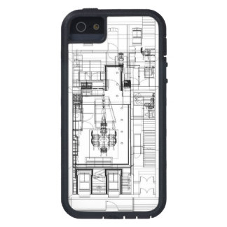 Architectural wireframe phone case iPhone 5 case