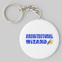 Architectural Wizard Basic Round Button Keychain
