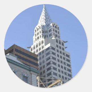 Architecture along the Las Vegas Strip.jpg Classic Round Sticker