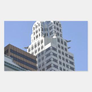 Architecture along the Las Vegas Strip.jpg Rectangular Sticker