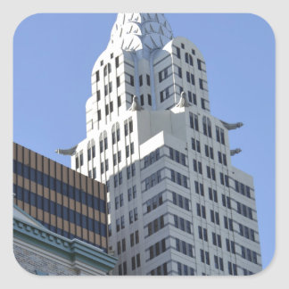 Architecture along the Las Vegas Strip.jpg Square Sticker