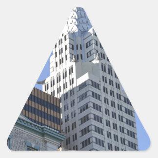 Architecture along the Las Vegas Strip.jpg Triangle Sticker