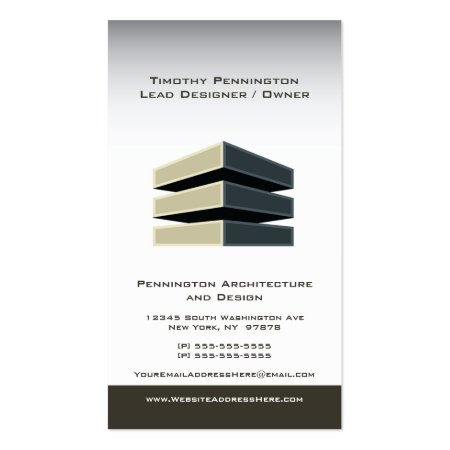 Modern Building Architecture Design Business Cards