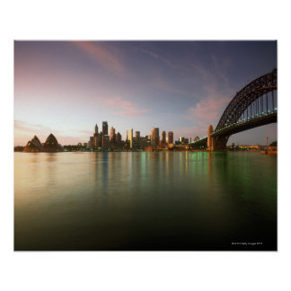 Architecture Australia Bridge Calm Cities City Poster