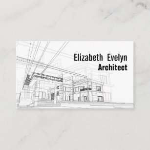 architecture background design business card - Architect Business Card