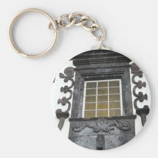 Architecture Basic Round Button Keychain