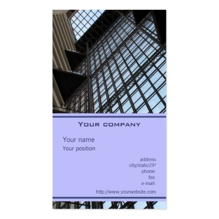 Modern Building Interior Architecture Custom Business Cards