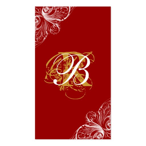 Architecture Business Card Wedding Planner Red
