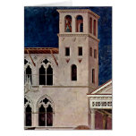 Architecture By Giotto Di Bondone Greeting Cards