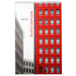 architecture wall calendars