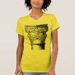 architecture column capital with leaves black tees