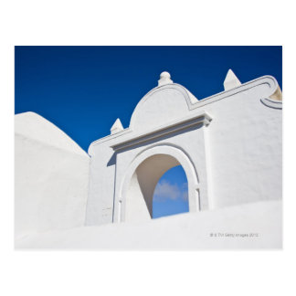 Architecture detail in Teguise, Lanzarote Postcard