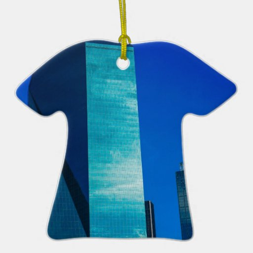 Architecture Double-Sided T-Shirt Ceramic Christmas Ornament
