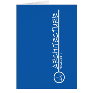 Architecture Drawing Title Greeting Card (light)