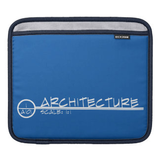 Architecture Drawing Title iPad Sleeve (inverse)
