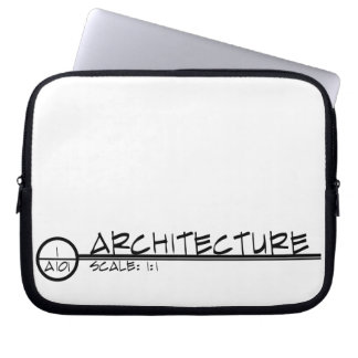 Architecture Drawing Title Laptop Case (dark)
