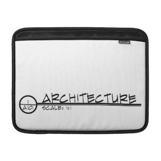 Architecture Drawing Title Macbook Sleeve (dark)