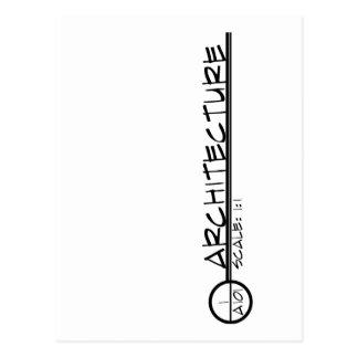 Architecture Drawing Title Postcard (dark)