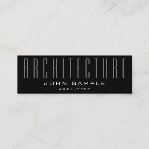 Architecture Elegant Professional Pearl Finish Mini Business Card