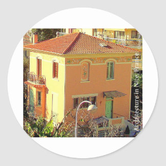 Architecture in Nice, France Classic Round Sticker