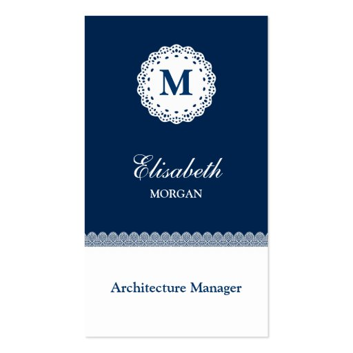 Architecture Manager Blue Lace Business Card Templates