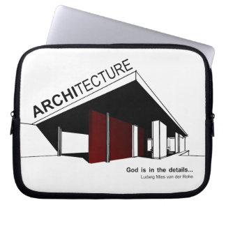 Architecture: Mies van der Rohe Laptop Sleeve