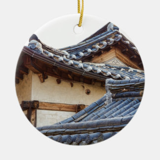 Architecture Of Bukchon Hanok Village Ceramic Ornament