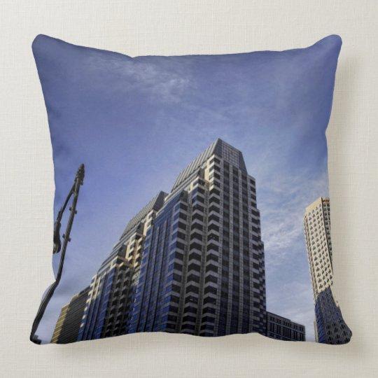 Architecture of downtown Boston Throw Pillow