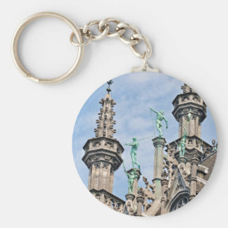architecture on Grand Place in Brussels, Belgium Key Chains
