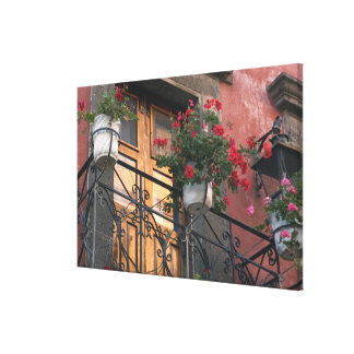 Architecture on the streets of San Miguel de Gallery Wrapped Canvas