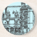 architecture pen drawing beverage coaster