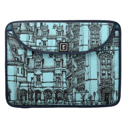 architecture pen drawing sleeve for MacBook pro