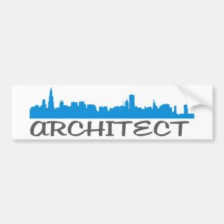 Architecture Skylines! Car Bumper Sticker