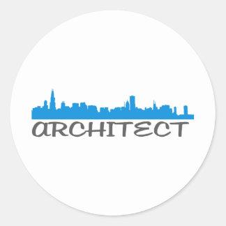 Architecture Skylines! Classic Round Sticker