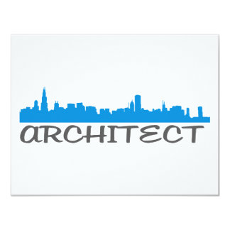 Architecture Skylines! 4.25x5.5 Paper Invitation Card