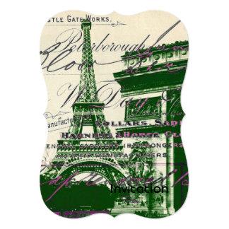 architecture victory gate paris eiffel tower card