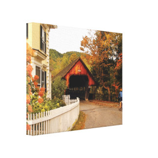 Architecture - Woodstock, VT - Entering Woodstock Gallery Wrapped Canvas