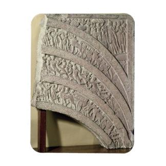 Architrave de una entrada, piedra arenisca roja, M Imán Flexible